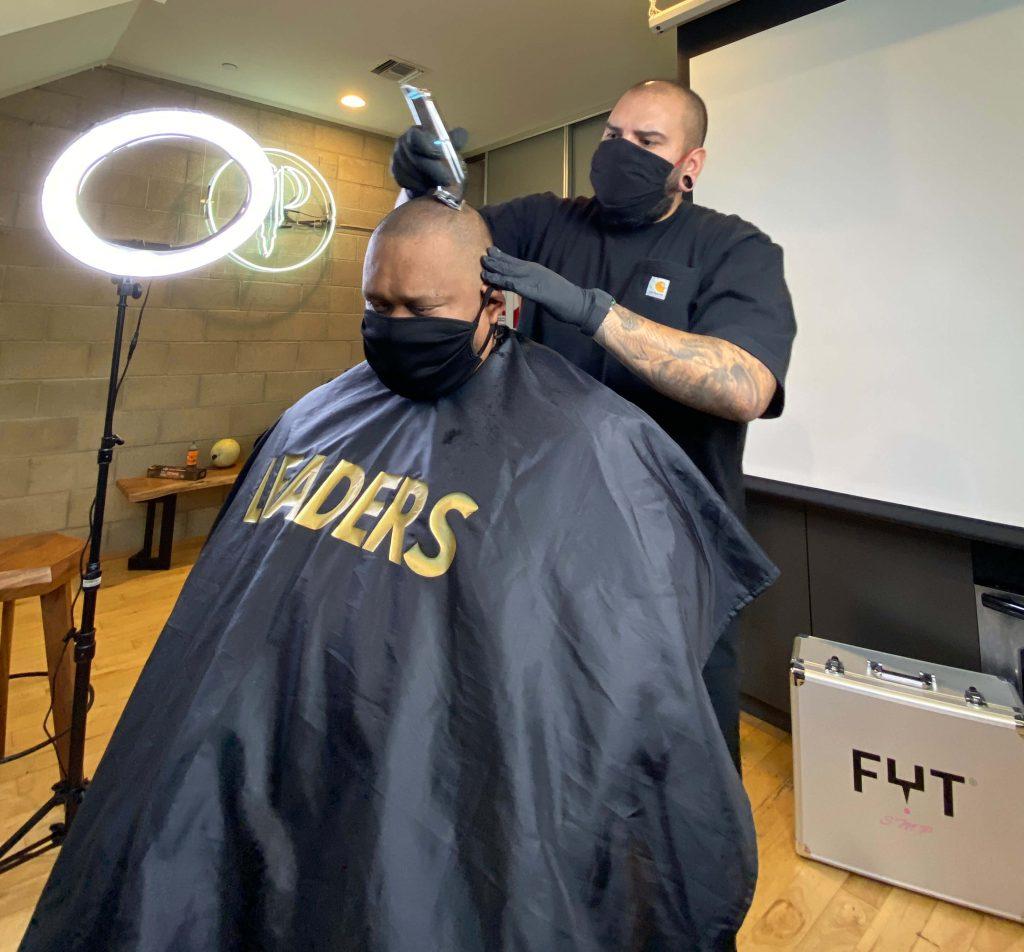 scalp micropigmentation hair cut